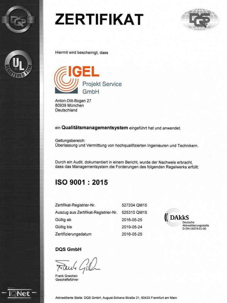 DIN ISO 9001 zertifiziertes Unternehmen